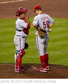 'Carlos Ruiz, Joe Blanton' photo (c) 2012, Keith Allison - license: http://creativecommons.org/licenses/by-sa/2.0/