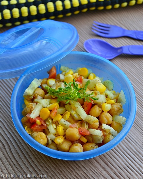 Chick peas & Corn Salad