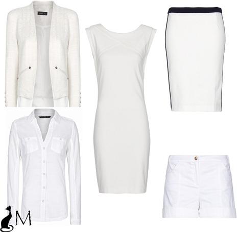 color blanco tendencia primavera verano 2013 vestido blanco mango falda bicolor blanco y negro mango short blanco mango chaqueta blanca mango camisa blanco mango tendencias marramiauuu