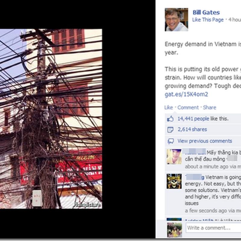 """Xấu hổ vì cư dân mạng Việt Nam lại """"đại náo"""" FB tỷ phú Bill Gates"""