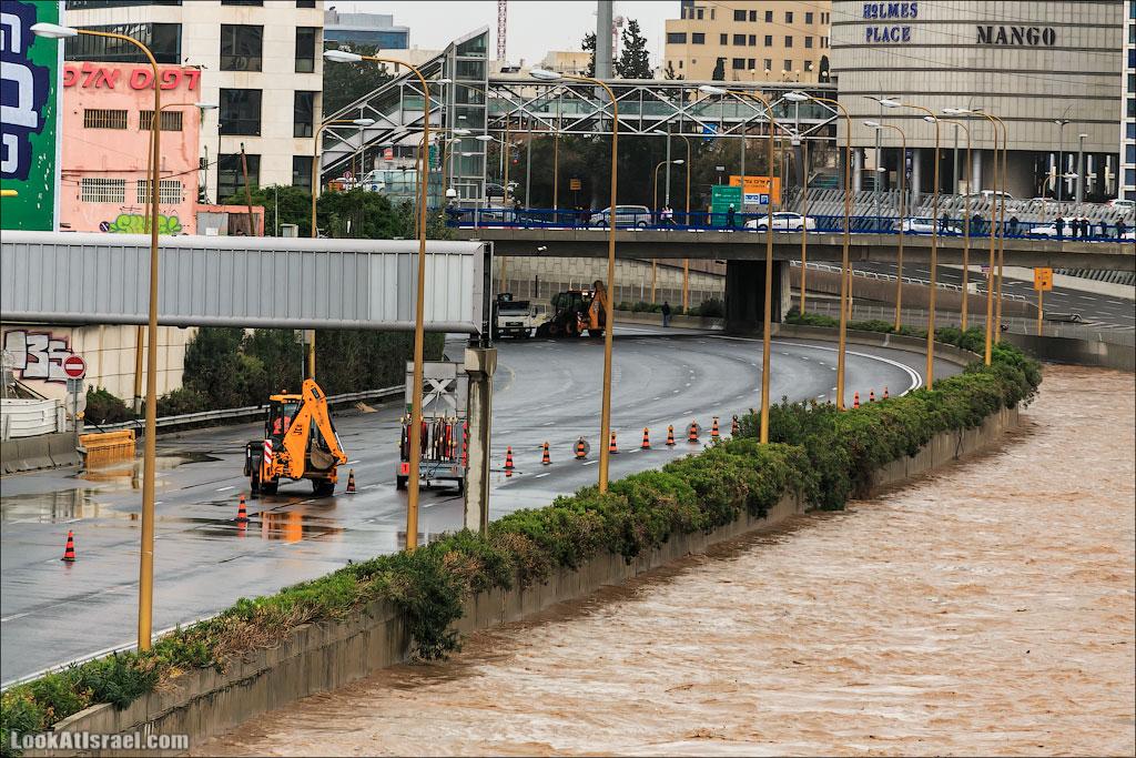 Сказ о том как одна маленькая, но гордая речка парализовала половину Израиля и весь Тель Авив (foto israel  фото тель авив и интересно и полезно дождь и снег  20130108 ta ayalon river 022 5D3 5677)