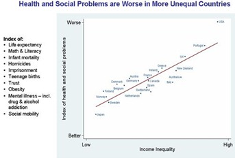 Income Gap and social health