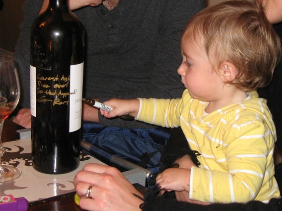 Signing the Bottle