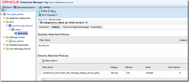 OWSM_Policy in SOA