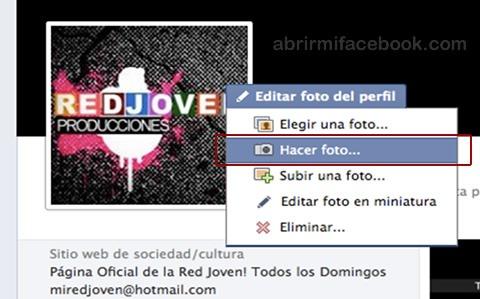 Elegir foto de perfil para Facebook