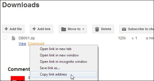Meng-copy link download file di Google Sites