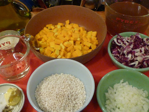 Ingredients ready for risotto