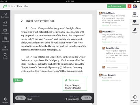 PandaDoc- las mejores firmas digitales para mis documentos de Word