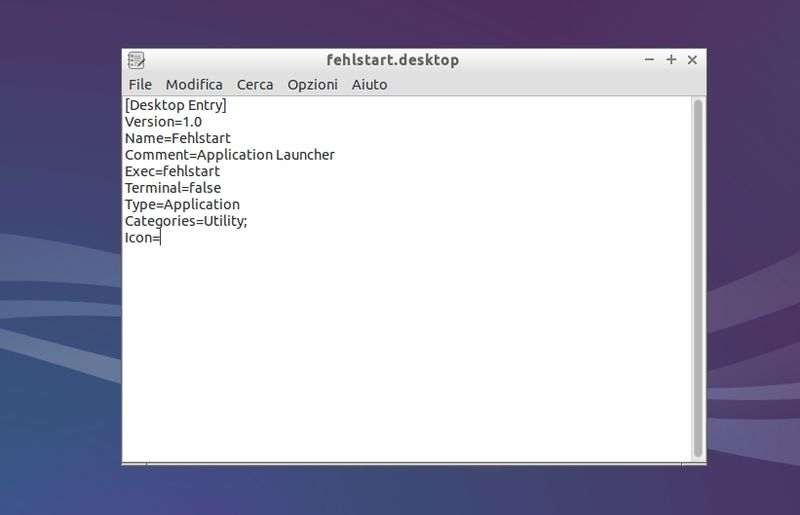 Fehlstart - collegamento menu