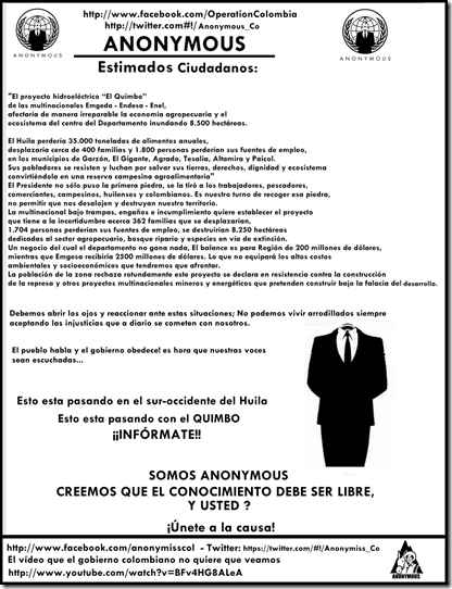 anonymus el quimbo