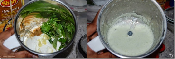 Masala chaas process
