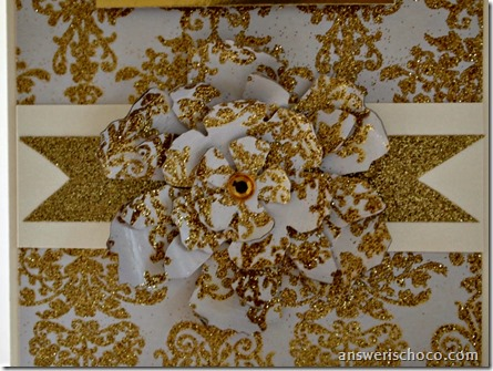 American Crafts Gold Damask