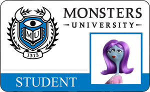 Heather Olson Monsters University Student Identification Card