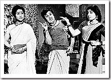 Geetanjali, M.G. Ramachandran and Jayalalitha in tamil fim, En Annan.