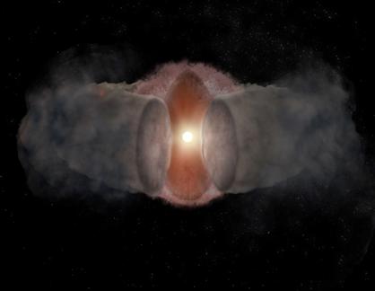 ilustração da estrela W75N(B)-VLA2