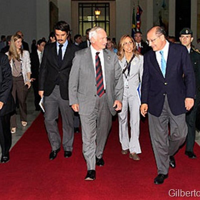 Governador de São Paulo Geraldo Alckmin recebe governador geral do Canadá