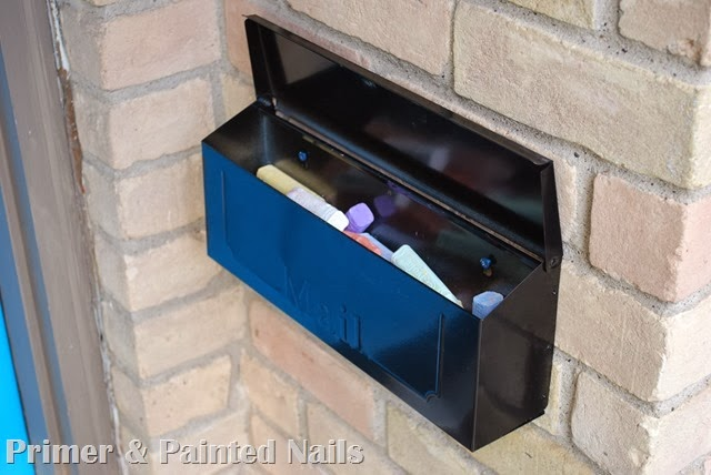 Chalk Mailbox 4 - Primer & Painted Nails