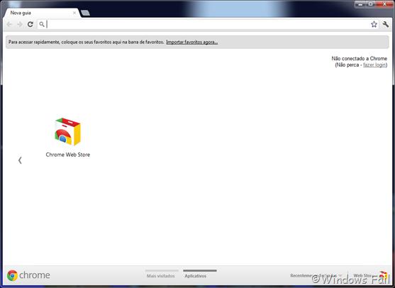 Google Chrome - Padrão de fábrica