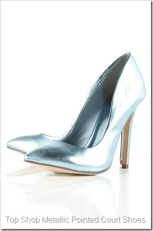 GAME Metallic Pointed Court Shoes