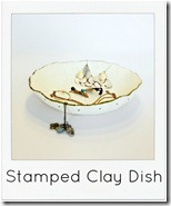 Stamped Clay Jewelry Dish