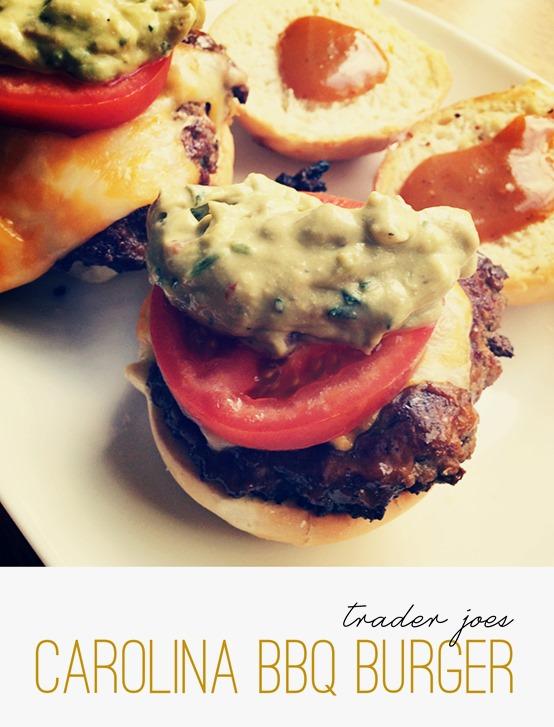 Trader Joes Carolina BBQ Burger