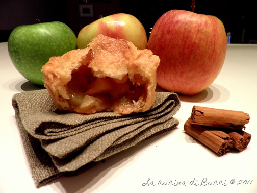 Mini apple pie aperta
