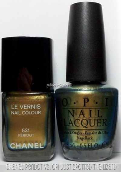 Chanel Peridot vs. OPI Just Spotted the Lizard