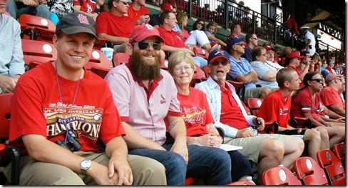 Busch Stadium, watching cardinals
