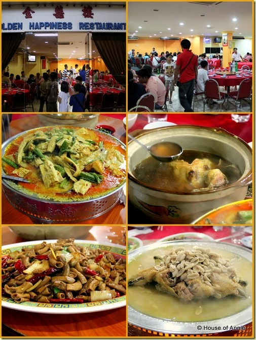 Dinner at Golden Happiness Restaurant Sarikei