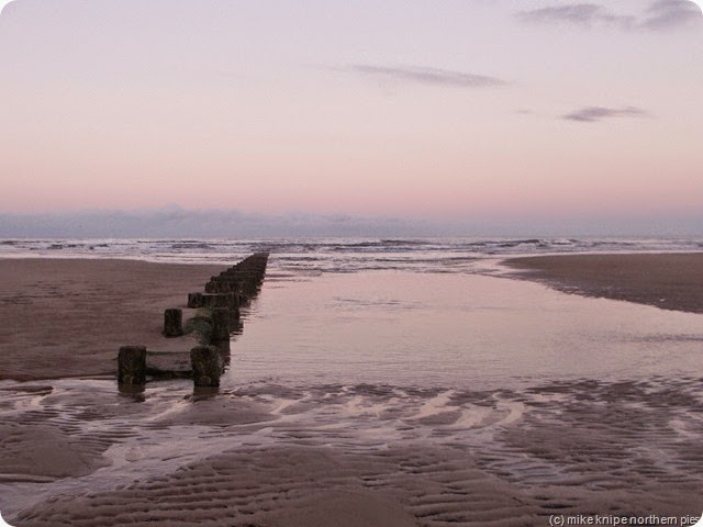 druridge bay at sunset