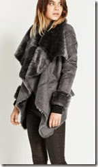Grey Faux Fur Draped Jacket