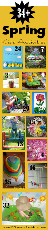 34+ Kids Activities for Spring - lots of creative and unique ideas for lots of spring fun!
