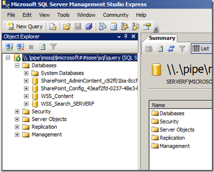 ciaops recreate wss search database rh blog ciaops com Microsoft SharePoint Icon Microsoft SharePoint Dashboard