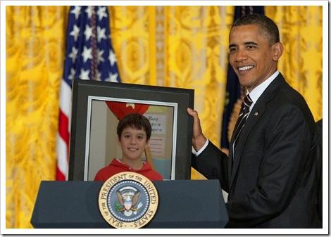 Javier e o presidente