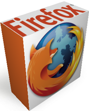 Scatola 3D di Firefox ottenuta con Rizone 3D Box Creator