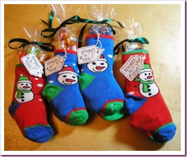 Baby Socks Christmas Stocking Treat Favor