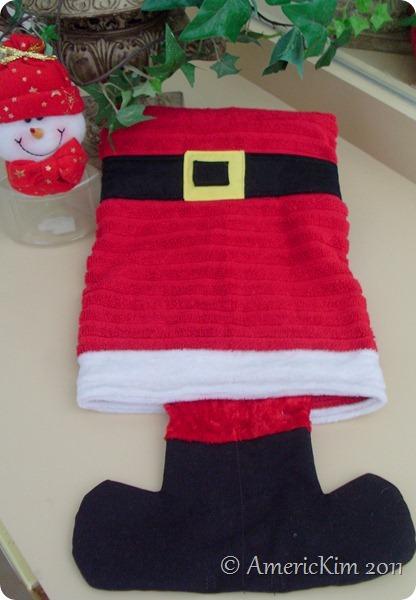 Santa's Boots Hand towel