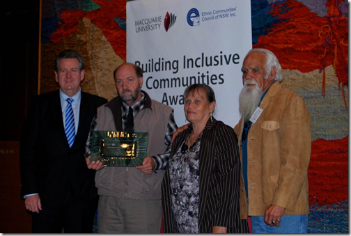 Tingha Bob Neville building Inclusive Communities Award
