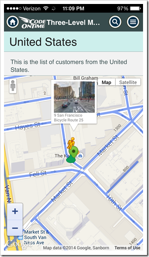 Dragging the Street View figure with touch gestures or mouse to the desired location will activate the street view.