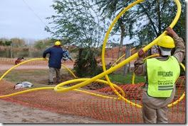 Informe de avance de la red de agua, cloacas y gas en el distrito