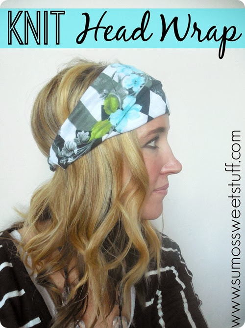 Knit Head Wrap at SumosSweetStuff.com #sewing #tutorial
