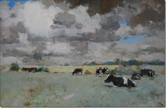 Landscape with cows-Vadim-Suvorov-ENKAUSTIKOS