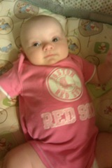 Sammi June 2013 in Red Sox outfit