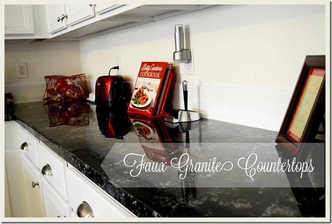 Faux Granite Countertops Tutorial at Made it on Monday