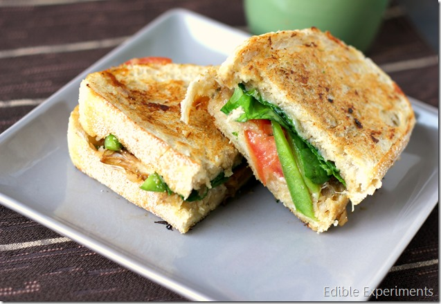 Veggie Panini's with Sunchoke and leek purre