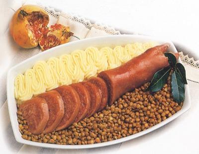 Zampone pure e lenticchie