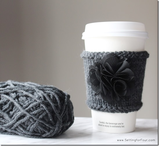 Tulle Flower and Cashmere Cup Cozy from Setting for Four