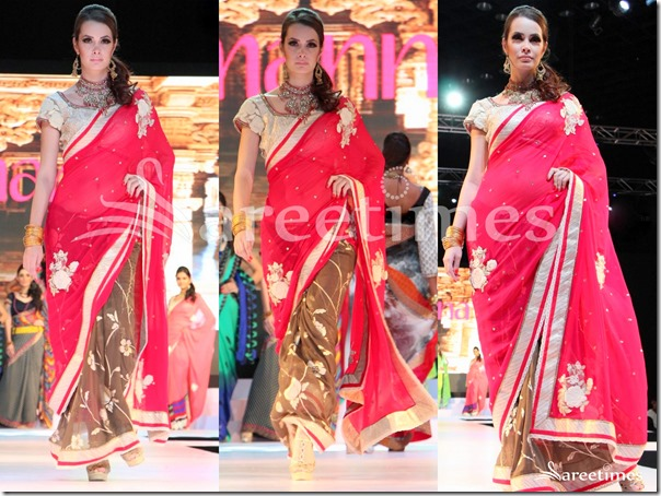 Red_Brown_Half_and_Half_Saree