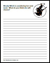 Classroom Freebies: Witchy Writing Prompt