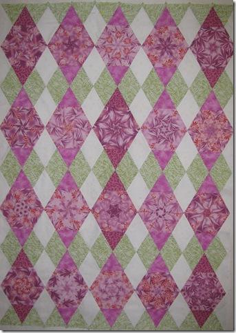 Pink hexagon top